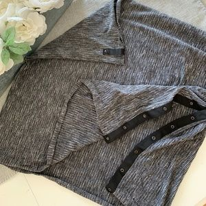 Gray yoga scarf